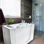 Installed Walk-in Bathtub from American Tubs